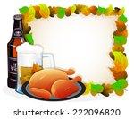 beer mug  bottle and fried...   Shutterstock .eps vector #222096820