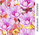seamless pattern tropical... | Shutterstock . vector #222106063