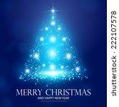 christmas tree from light.... | Shutterstock .eps vector #222107578