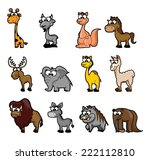 set of vector cute cartoon... | Shutterstock .eps vector #222112810