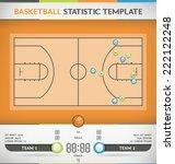 basketball court statistic... | Shutterstock .eps vector #222122248