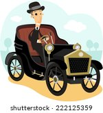 Antique Collector Car With...