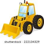 backhoe excavator power shovel... | Shutterstock .eps vector #222134329