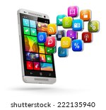 mobile web applications ... | Shutterstock . vector #222135940