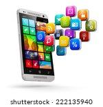 mobile web applications ... | Shutterstock . vector #222135940