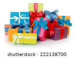 plenty assorted colored... | Shutterstock . vector #222138700