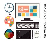 set of colorful graphic  web... | Shutterstock .eps vector #222144790