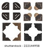 vintage photo corners isolated... | Shutterstock . vector #222144958