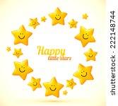smiling yellow cute stars... | Shutterstock .eps vector #222148744