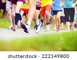 group of unidentified marathon... | Shutterstock . vector #222149800