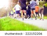 group of unidentified marathon... | Shutterstock . vector #222152206