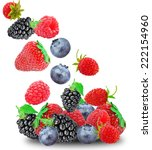 berries on a white background  | Shutterstock . vector #222154960
