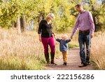 lovely family enjoying weekend... | Shutterstock . vector #222156286
