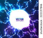 blue electric lightnings vector ... | Shutterstock .eps vector #222157846