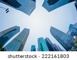 modern city in shanghai of china | Shutterstock . vector #222161803