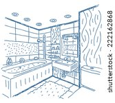 bathroom interior vector... | Shutterstock .eps vector #222162868