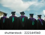 back of graduates with blue sky | Shutterstock . vector #222164560