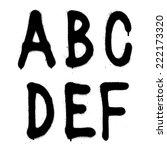 hand written graffiti font type ... | Shutterstock .eps vector #222173320