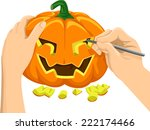 cropped illustration featuring... | Shutterstock .eps vector #222174466