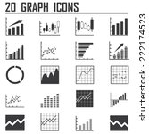 line chart and diagram  icons... | Shutterstock .eps vector #222174523