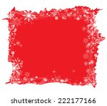 christmas background with trees | Shutterstock . vector #222177166