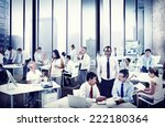 multiethnic group of people... | Shutterstock . vector #222180364
