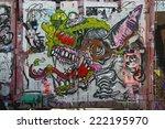 new york   june 1  mural art at ... | Shutterstock . vector #222195970