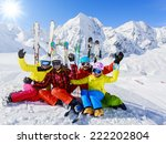 skiing  winter  snow  skiers ... | Shutterstock . vector #222202804