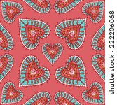 vector colorful heart seamless... | Shutterstock .eps vector #222206068
