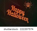 happy halloween greetings ... | Shutterstock .eps vector #222207574