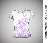 t shirt design with abstract... | Shutterstock .eps vector #222211489