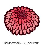 red sea urchin   stylized... | Shutterstock .eps vector #222214984
