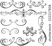 calligraphic elements   black... | Shutterstock . vector #222217828