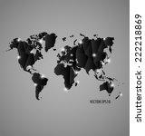 modern world map design  vector ... | Shutterstock .eps vector #222218869