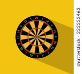 darts icon. flat design | Shutterstock .eps vector #222222463