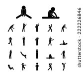 body exercise stick figure icon ... | Shutterstock .eps vector #222226846