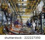 car factory avtotor on... | Shutterstock . vector #222227350