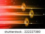 red orange light abstract... | Shutterstock .eps vector #222227380