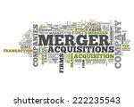 word cloud with merger  ... | Shutterstock . vector #222235543