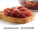 crisp toasts with strawberry... | Shutterstock . vector #222236908