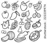 vector illustration of fruits... | Shutterstock .eps vector #222239974