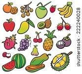 vector illustration of fruits... | Shutterstock .eps vector #222240028