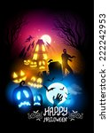 a collection of halloween... | Shutterstock .eps vector #222242953