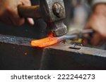 Detail Shot Of Hammer Forging...