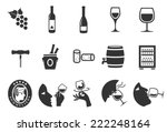 wine icons   illustration | Shutterstock .eps vector #222248164
