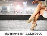 modern city and legs  | Shutterstock . vector #222250900