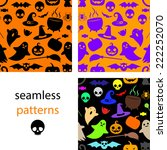 set of seamless black  multi... | Shutterstock .eps vector #222252070