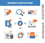 set of flat style concepts of... | Shutterstock .eps vector #222253780