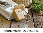 spa bath set with handmade...   Shutterstock . vector #222258643