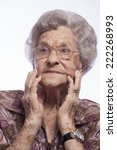 image of an old lady with her... | Shutterstock . vector #222268993